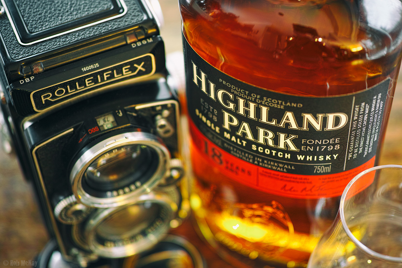 Classics, Highlandpark Whiskey & Rolleiflex Medium Format Camera