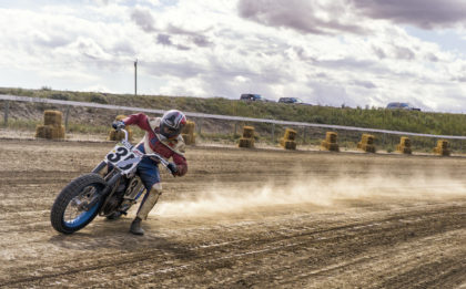 Flat Track Motorcycle Racing - Dirt Track Racing Dinosaur Downs Half Mile